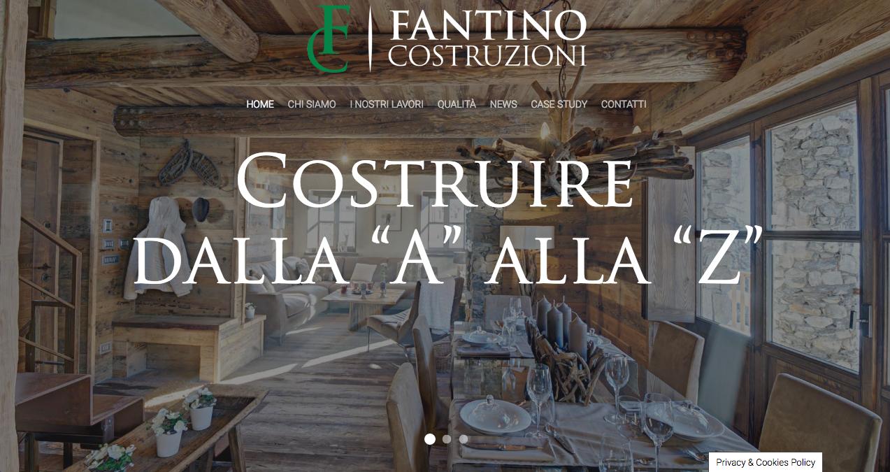 Online il nuovo sito internet di Fantino Costruzioni